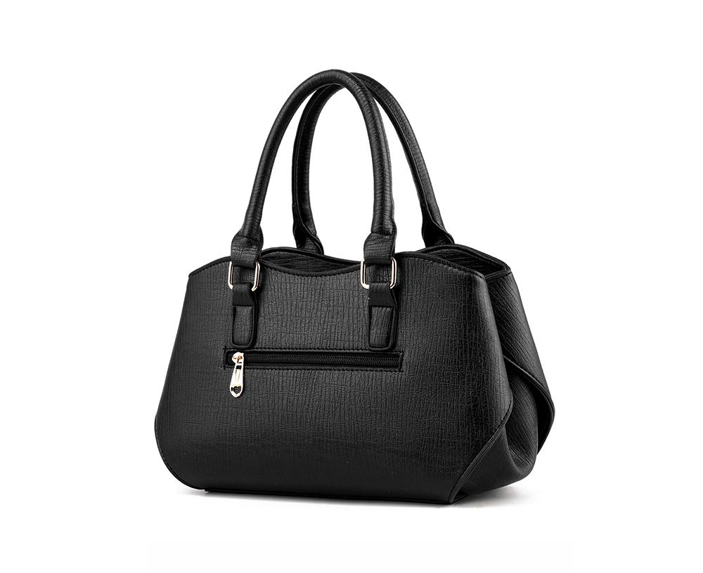 Soft Handbag with Aluminum Buckle & Zipper