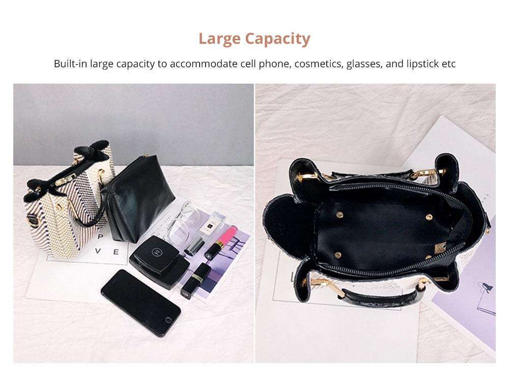 Large Capacity Weave Shoulder Bag