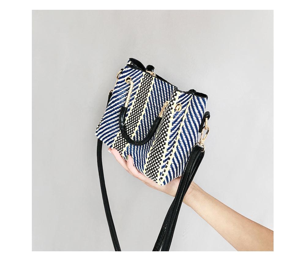 Girl's Weave Shoulder Bag