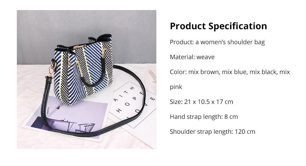 Women's Weave Shoulder Bag