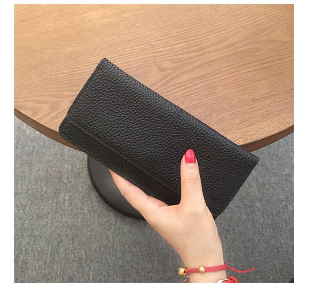 Women's Wallet with Multiple Compartments Card Slots Zipper Pocket, Lightweight Slim Sleek Women's Purse Grain Texture Soft Vintage Purse 12