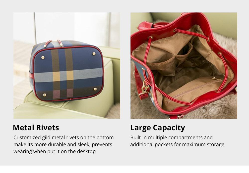 Elegant Grid Shoulder Bag for Business