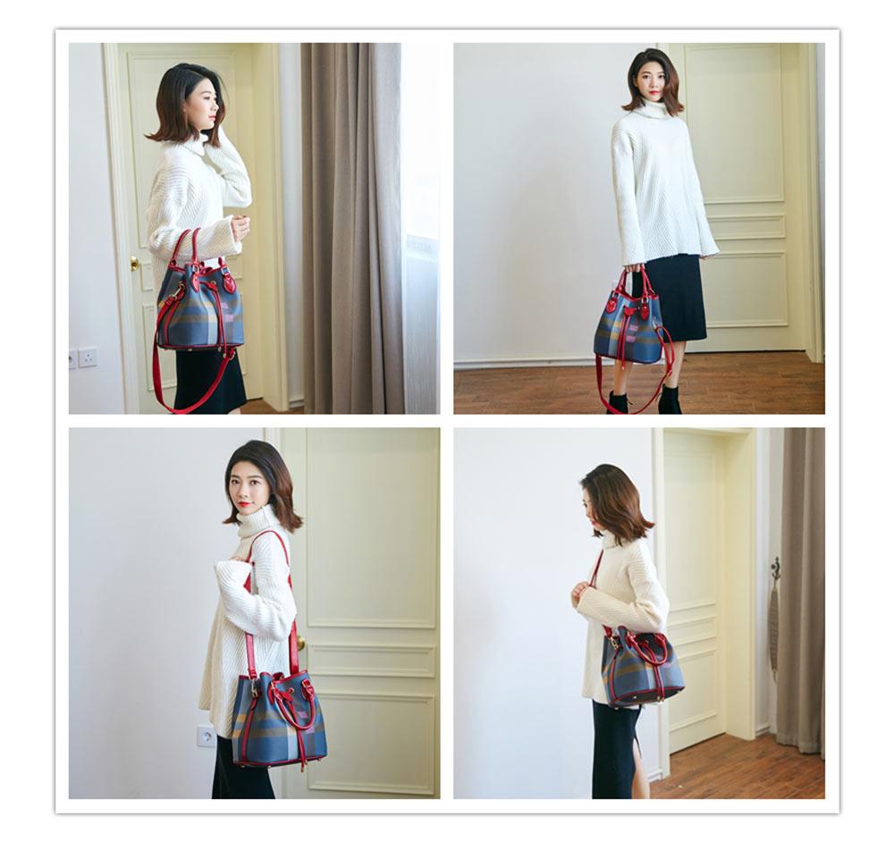 Fashionable Color Blocking Women's Handbag