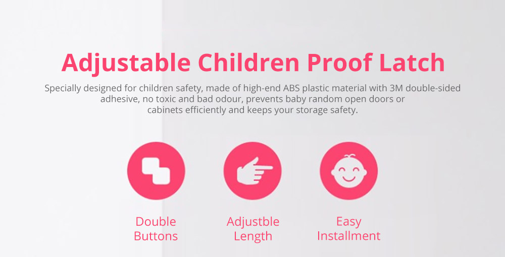 Baby Corner Guards Safety Accessories, Universal Adjustable Latch with 3M Double-sided Adhesive for Cabinets Drawers Toilets Children Proofing Lock 6
