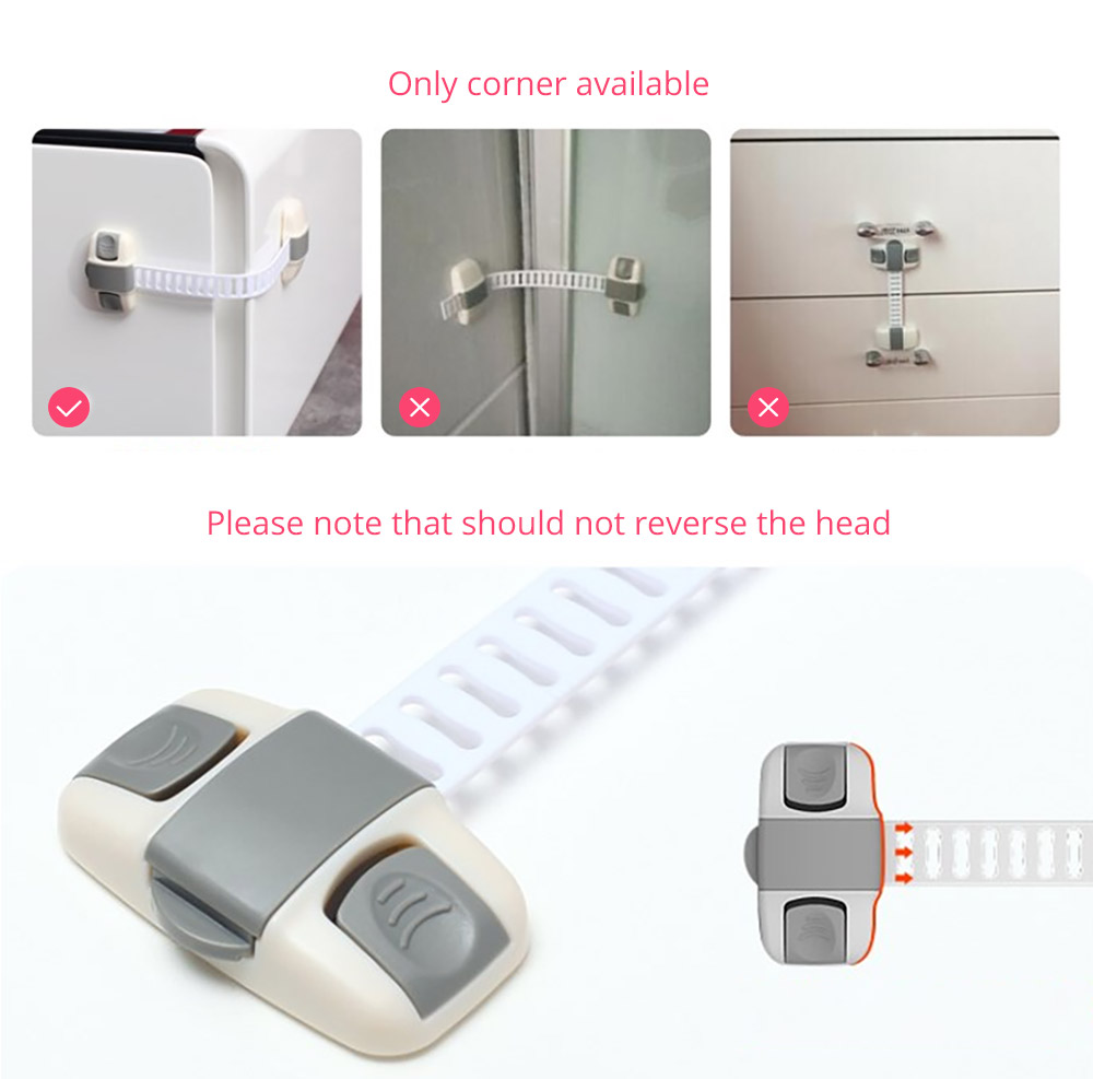 Baby Corner Guards Safety Accessories, Universal Adjustable Latch with 3M Double-sided Adhesive for Cabinets Drawers Toilets Children Proofing Lock 20