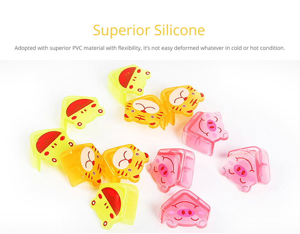 Cute Animal Shape Flexible Collision Prevention Corner Protector with Double-sided Adhesive for Furniture Against Sharp Corners, 8 Pack  7