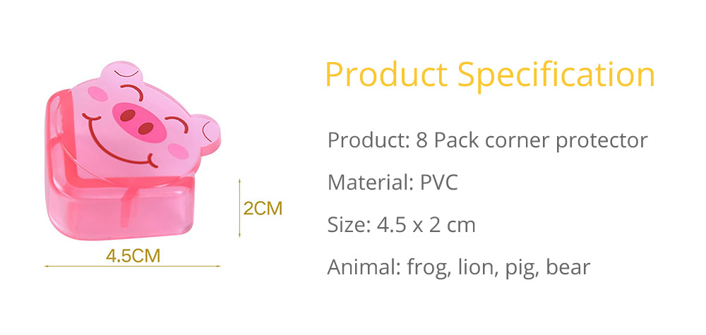 Cute Animal Shape Flexible Collision Prevention Corner Protector with Double-sided Adhesive for Furniture Against Sharp Corners, 8 Pack  15