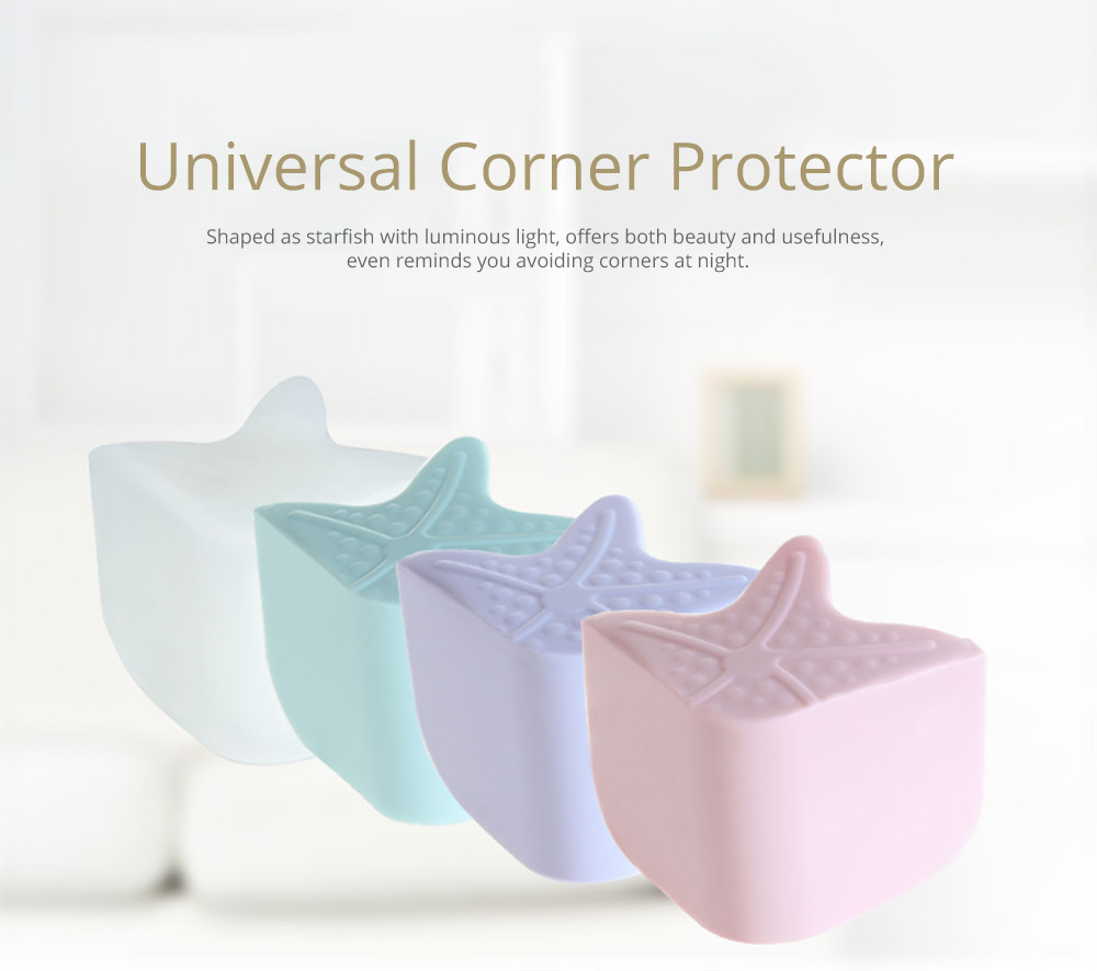 Starfish Eco-friendly Silicone Universal Collision Prevention Protective Cover with Double-sided Adhesive for Furniture Against Sharp Corners Flexible Thicken Impact Shield Corner Protector 6