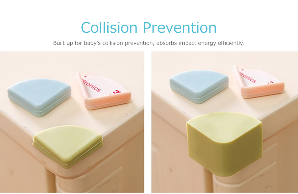 Universal Edge Safety Bumpers with Double-sided Adhesive for Furniture Against Sharp Corners 9