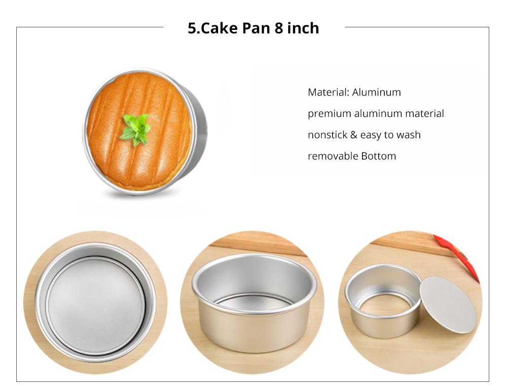 Premium Nonstick Bakeware Set 7 Pieces, Food Grade Dishwasher Safe Carbon Steel Kitchen Baking Pans Household Essential 15