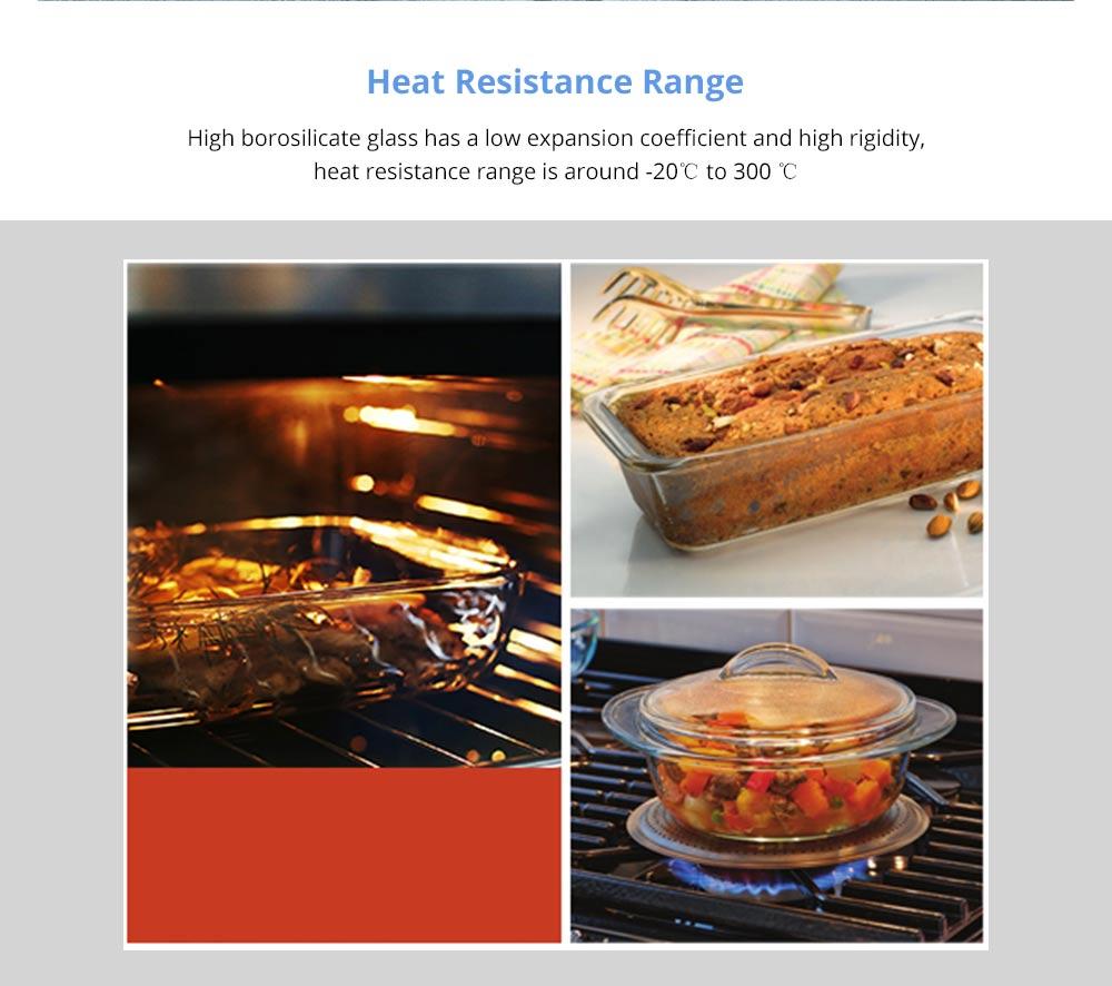 Nonstick Bakeware Glass Toast Pan, Kitchen Essential Premium Food Grade Borosilicate Glass Baking Dish for Toast Cake Baked Rice 9