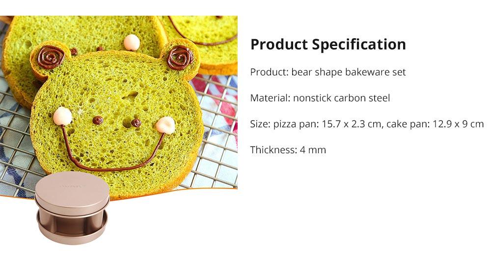 Bear Shape Nonstick Bakeware Set 3 Pieces