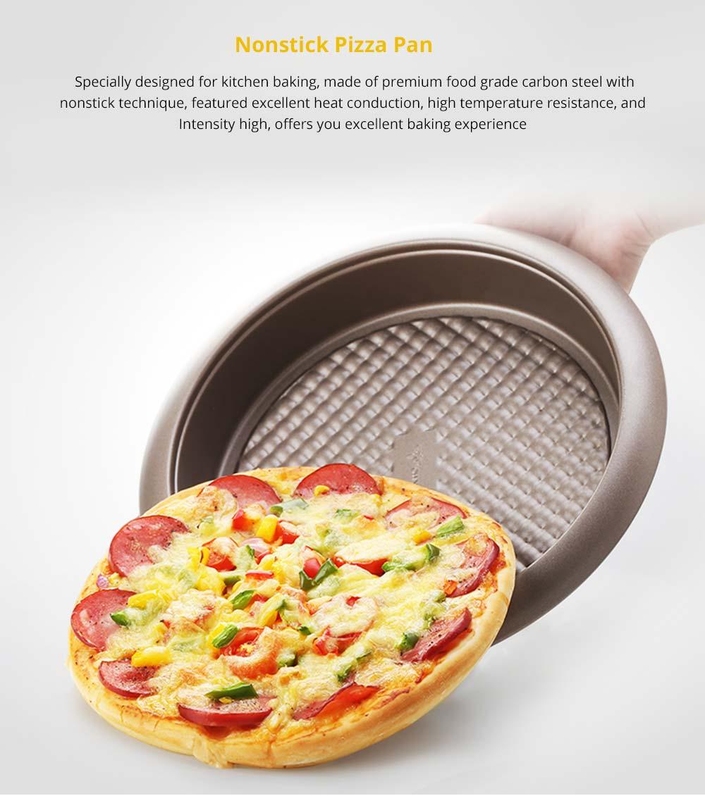 Universal Nonstick Deep Dish Pizza Pan, Food Grade Kitchen Baking Tray Premium Round Cake Baking Pans, 9 inch 5