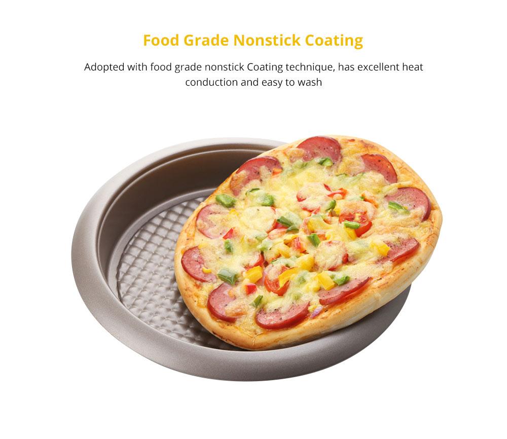 Universal Nonstick Deep Dish Pizza Pan, Food Grade Kitchen Baking Tray Premium Round Cake Baking Pans, 9 inch 7