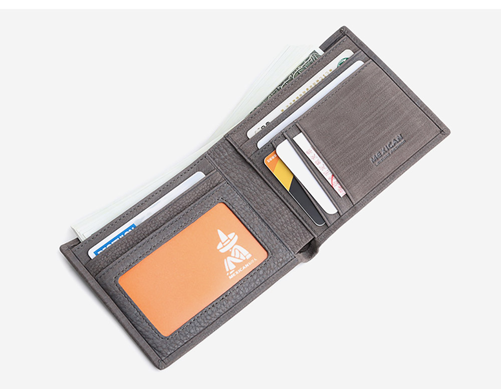Fashionable Genuine Leather Men's Wallet with Multiple Compartments Card Slots, Foldable Lightweight Thin Soft Vintage Wallets for Men 16