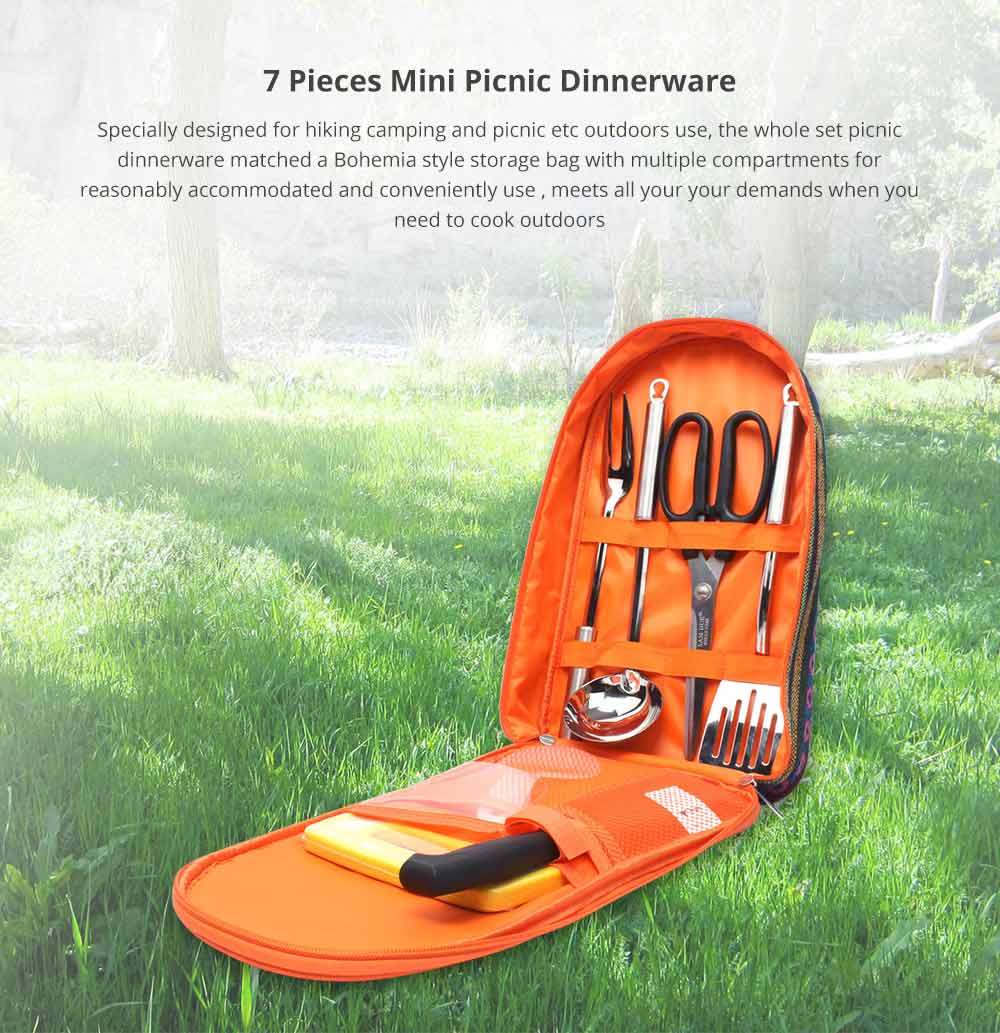 7 Pieces Mini Picnic Dinnerware