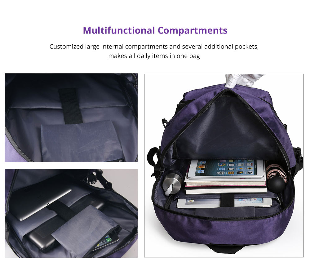 Hiking Backpack with Multifunctional Compartment