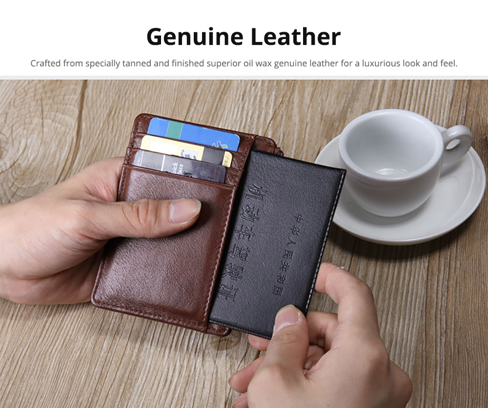 Fashionable Men's Wallet 2019, Lightweight Thin Genuine Leather Soft Vintage Wallets for Men with Multiple Compartments Card Slots 7