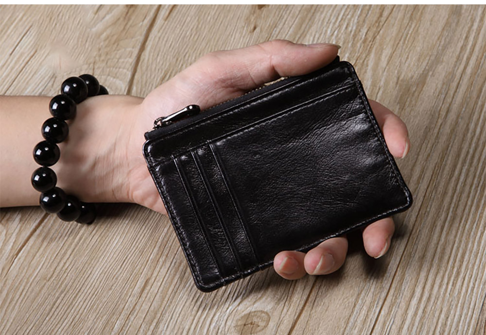 Fashionable Lightweight Thin Genuine Leather Men's Wallet
