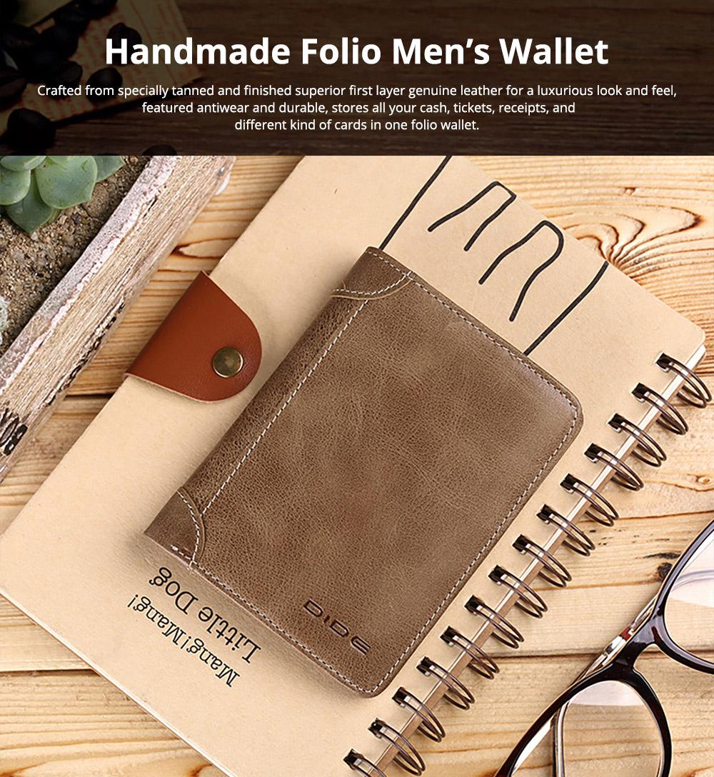 Handmade Folio Genuine Leather Men's Wallet
