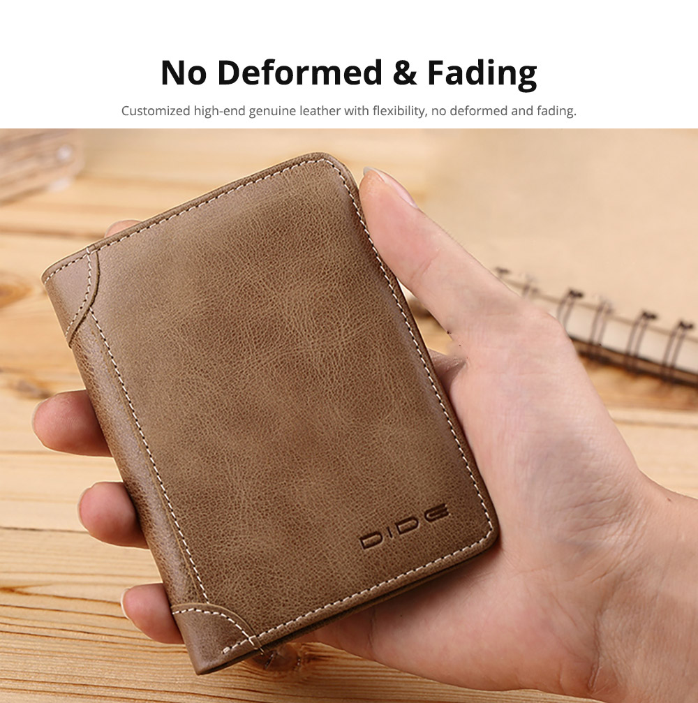 Handmade Folio Genuine Leather Men's Wallet, Foldable First Layer Leather Wallet with Multiple Compartments 10