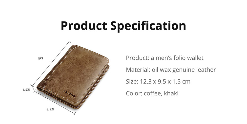 Durable Foldable First Layer Leather Wallet