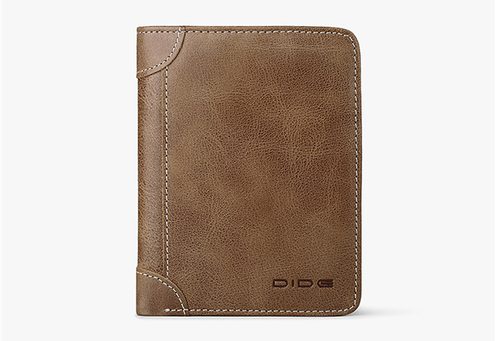 Durable Foldable First Layer Leather Wallet with Multiple Compartments