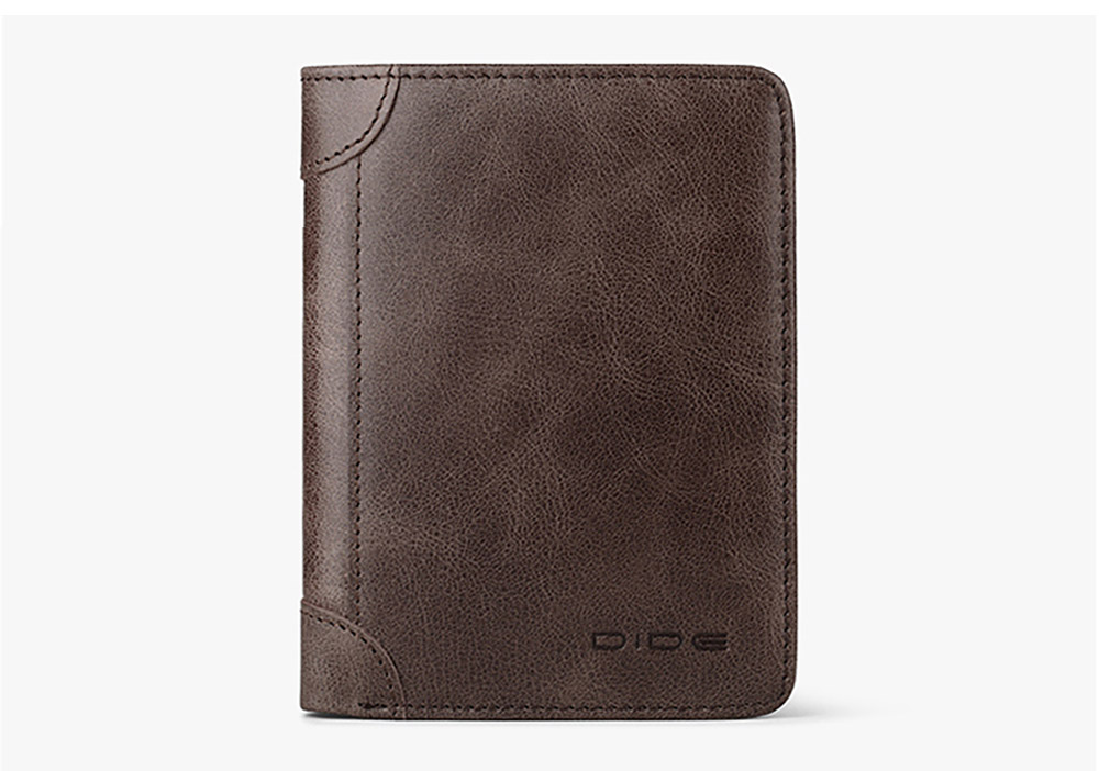 First Layer Leather Wallet with Multiple Compartments for Driver License ID Card Receipt Cash Coins