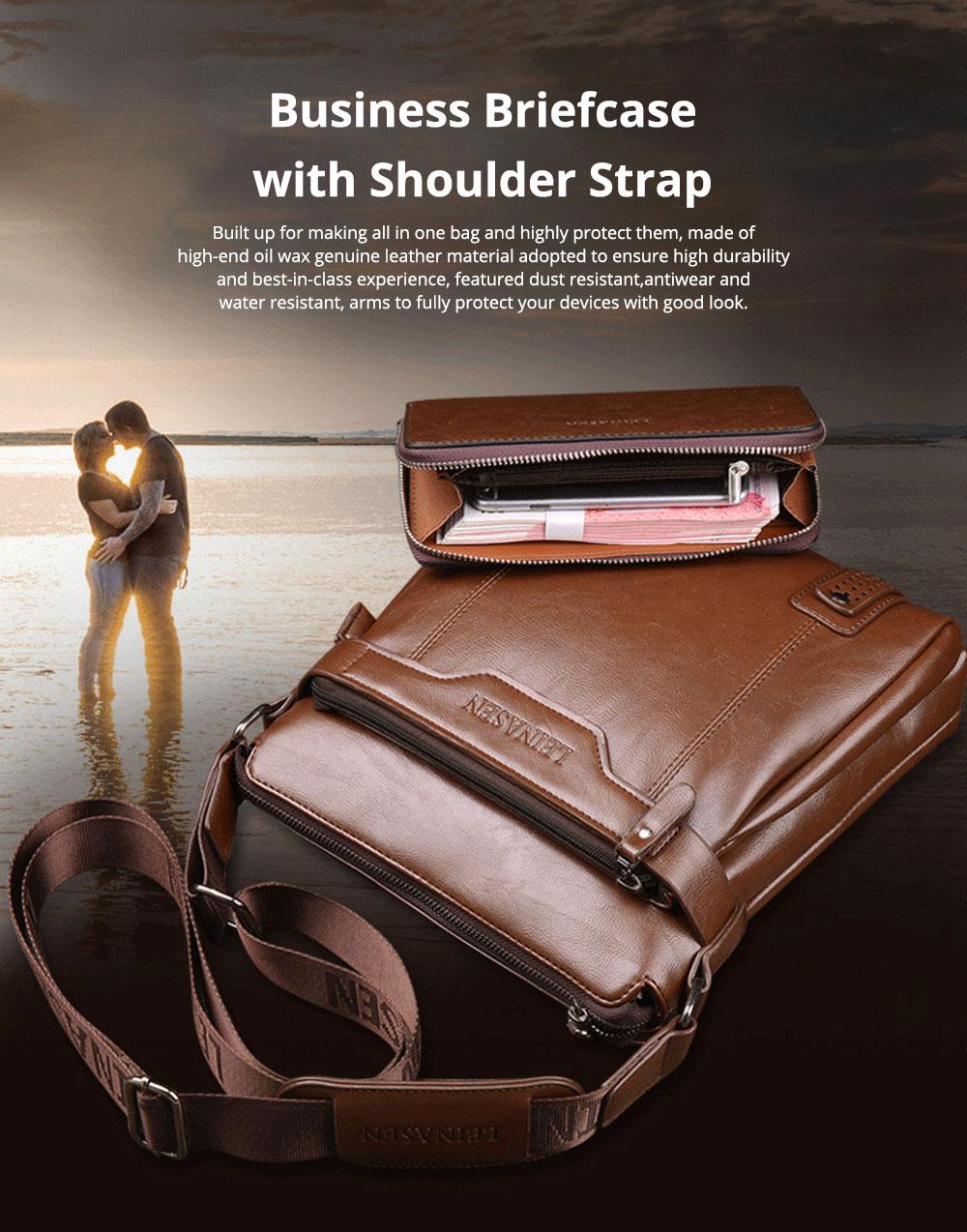 Luxurious Man Leather Shoulder Bag