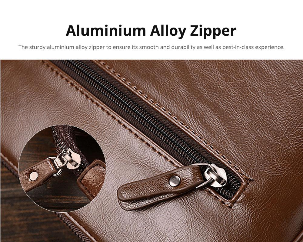 Oil Wax Genuine Leather Men's Wallet
