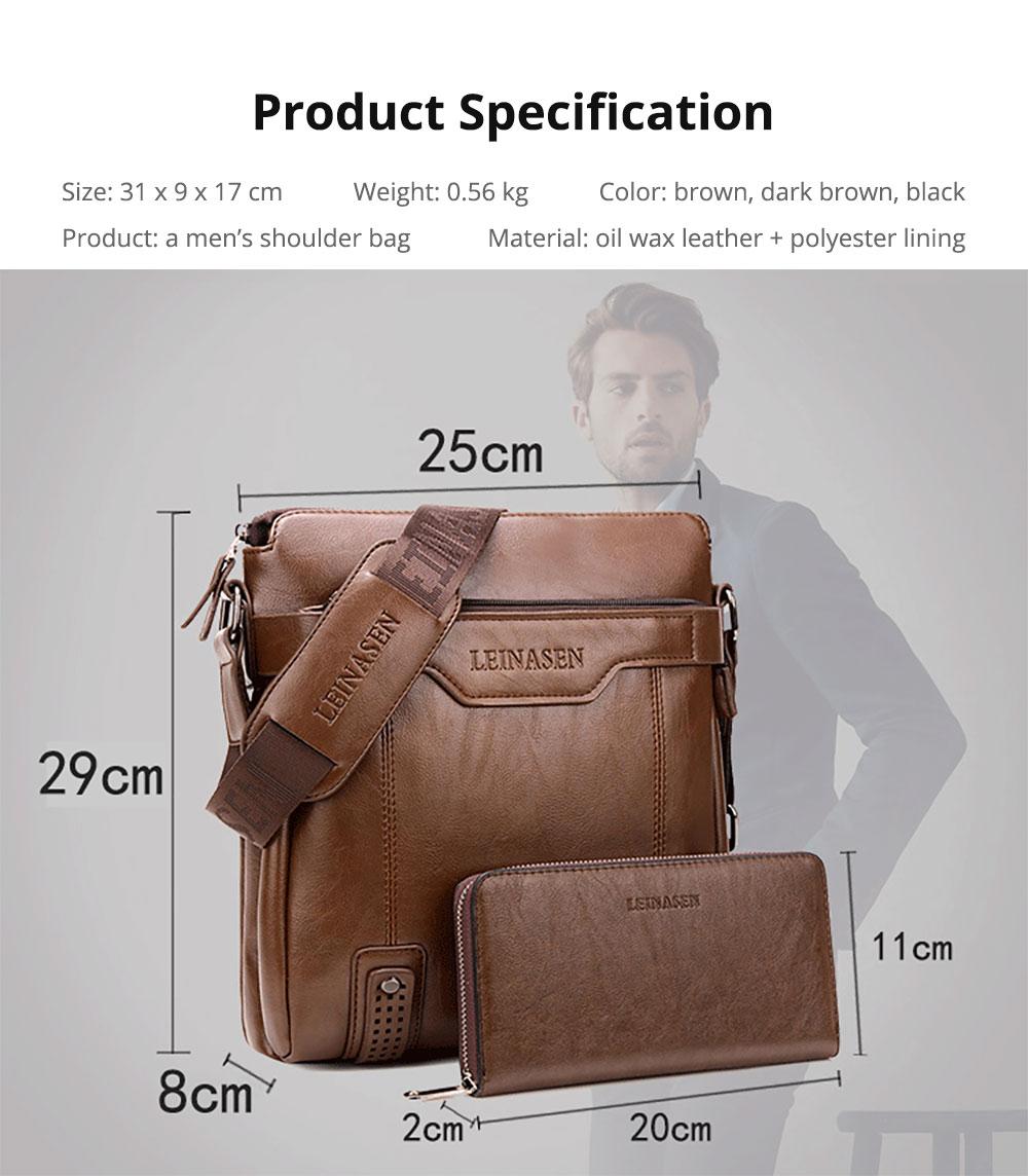 Business Leather Shoulder Bag