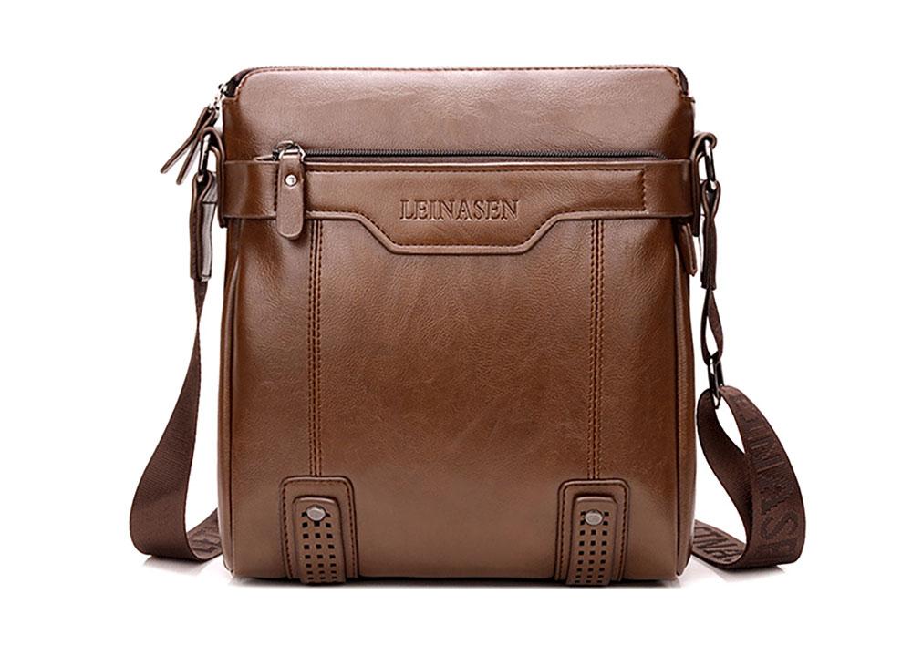 Business Leather Shoulder Bag Man