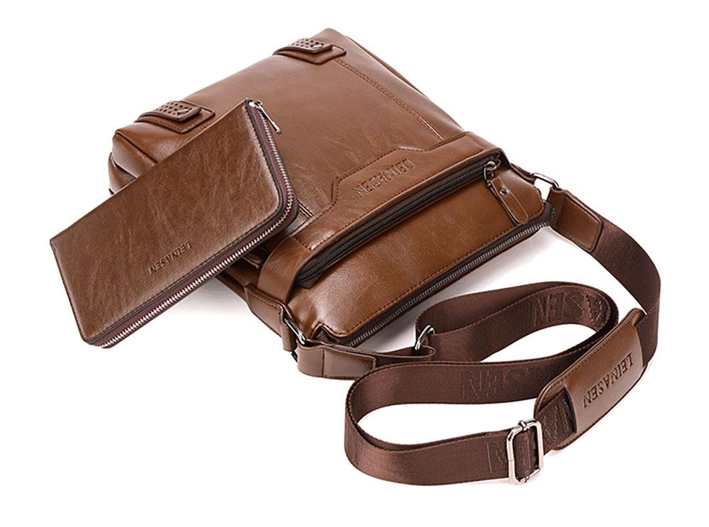Business Man Leather Shoulder Bag