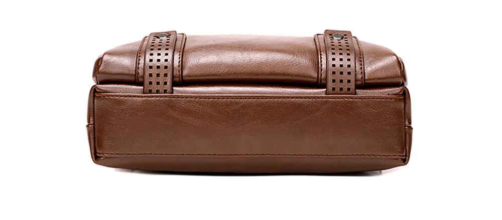 Large Capacity Business Man Leather Shoulder Bag