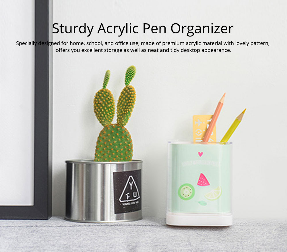 Acrylic Pencil Holder, Home School Essential Universal Premium Acrylic Pencil Holder For Desk 6