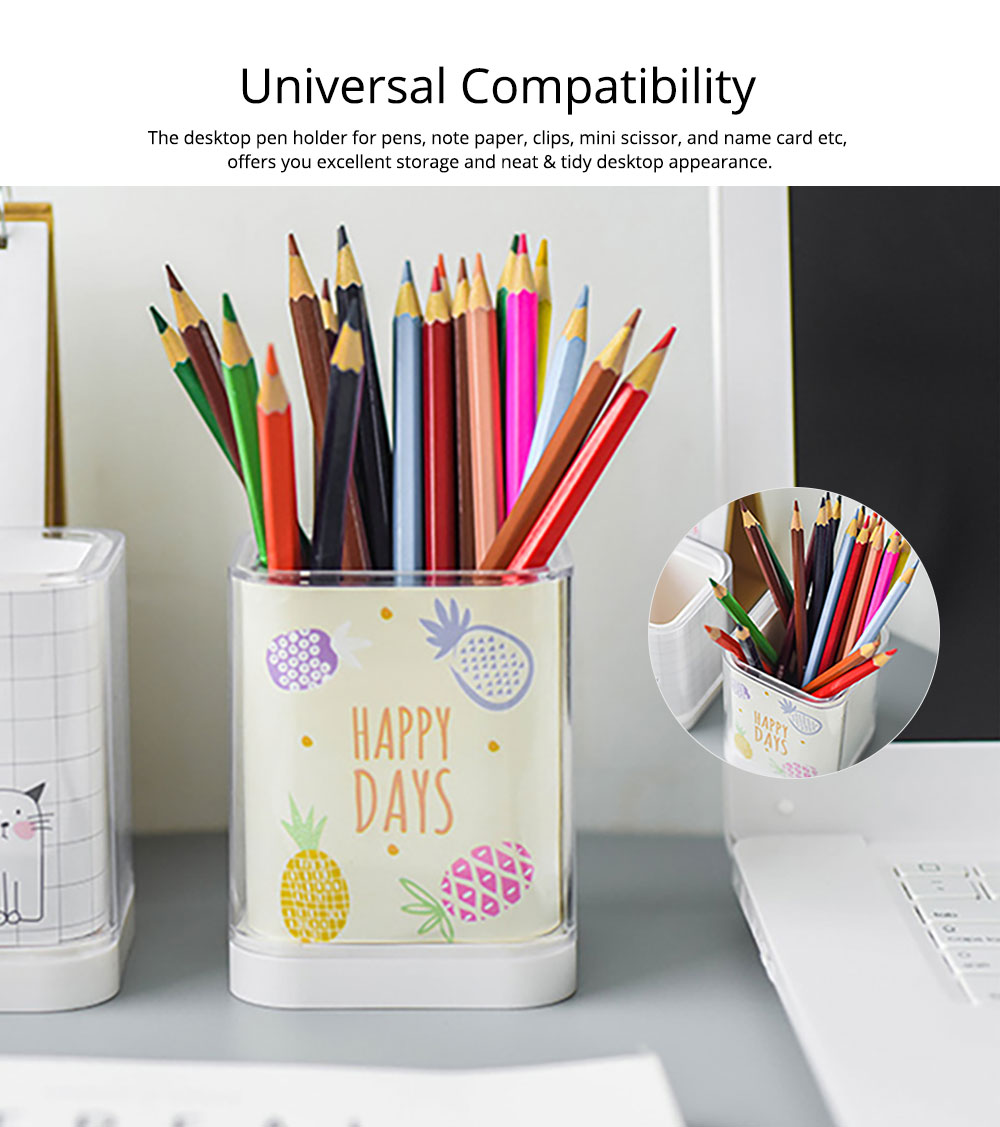 Acrylic Pencil Holder, Home School Essential Universal Premium Acrylic Pencil Holder For Desk 7