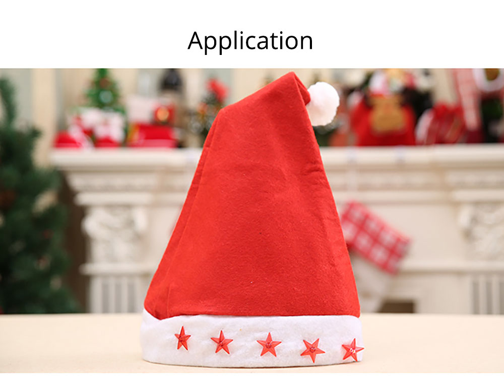 Christmas Hat With Lights - Traditional Christmas Hat Red & White, Christmas Accessory Santa Claus Cap Xmas Hat 14