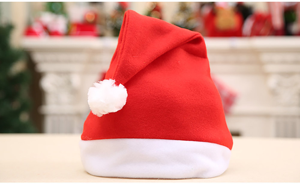Christmas Hat With Lights - Traditional Christmas Hat Red & White, Christmas Accessory Santa Claus Cap Xmas Hat 15