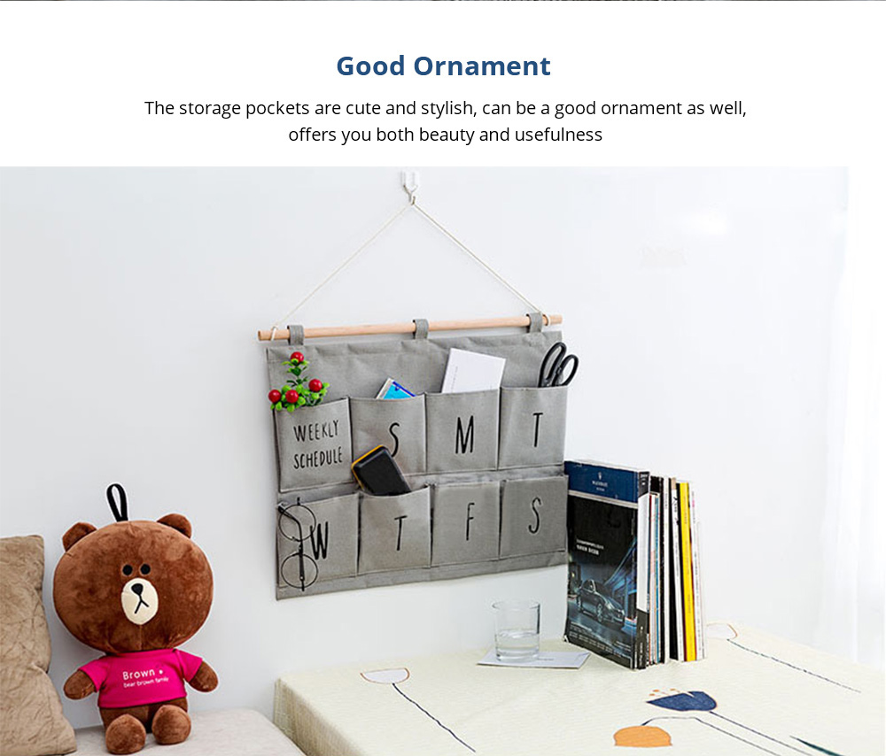Good Ornament Wall Mounted Storage Bag