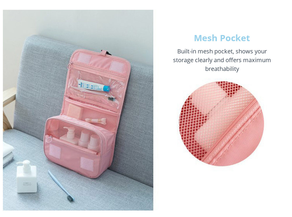 Multifunctional Makeup Bag with mesh packet