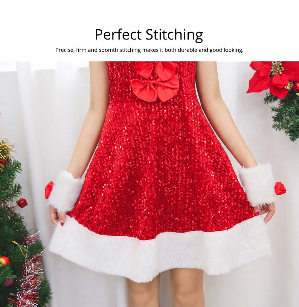 Girls Christmas Skip Dress, Luxurious Paillette Women Christmas Singlet Dress for Christmas Party, Cosplay, Family Gathering, Stage Performance 14