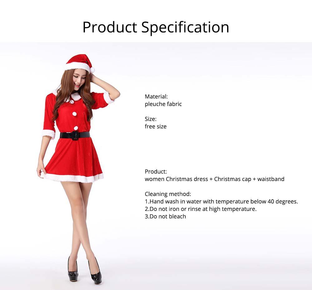 women Christmas dress & Christmas cap  waistband