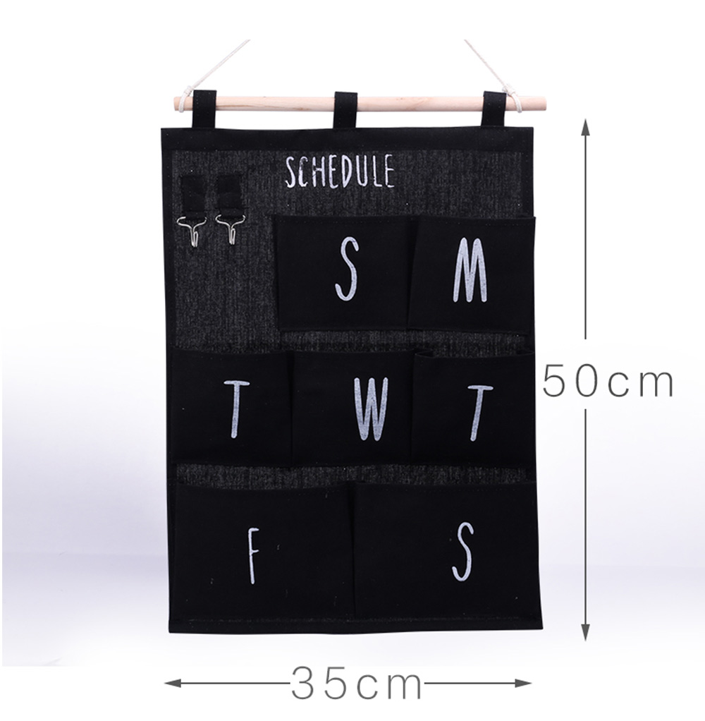 size of Hanging Organizer Bag