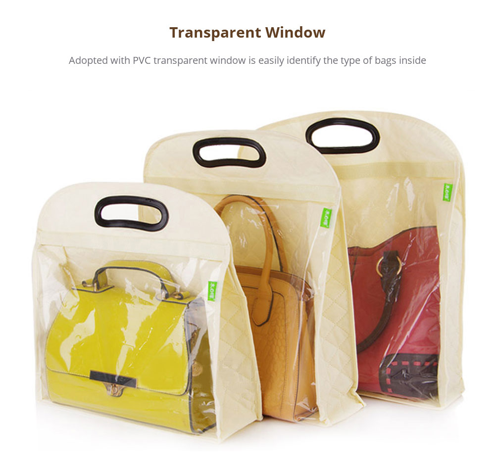 Anti-dust Bag Organizer with Transparent Window