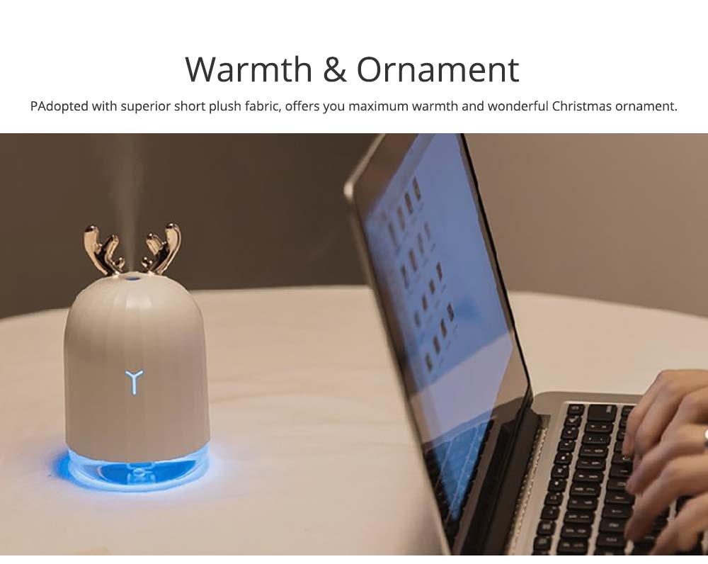 Mini Desk Humidifier, Ultrasonic USB Humidifier Essential Oil Diffuser Aromatherapy Household Rabbit Deer Design 10