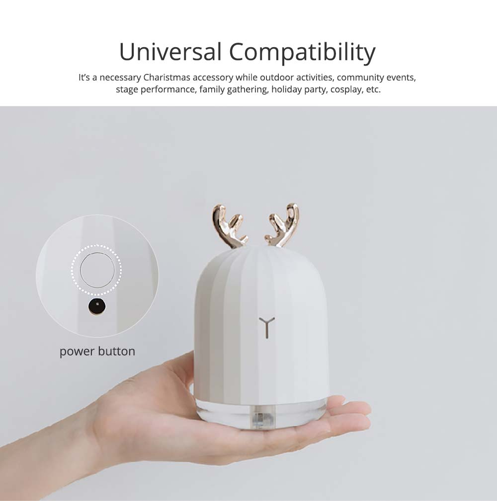 Mini Desk Humidifier, Ultrasonic USB Humidifier Essential Oil Diffuser Aromatherapy Household Rabbit Deer Design 14