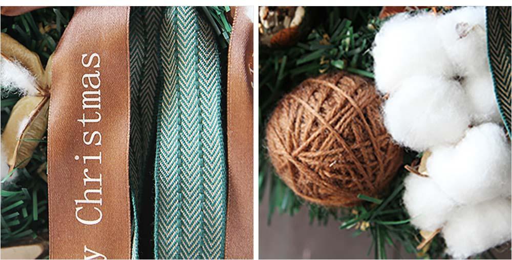 Hand-made Christmas Wreath for Front Door Window