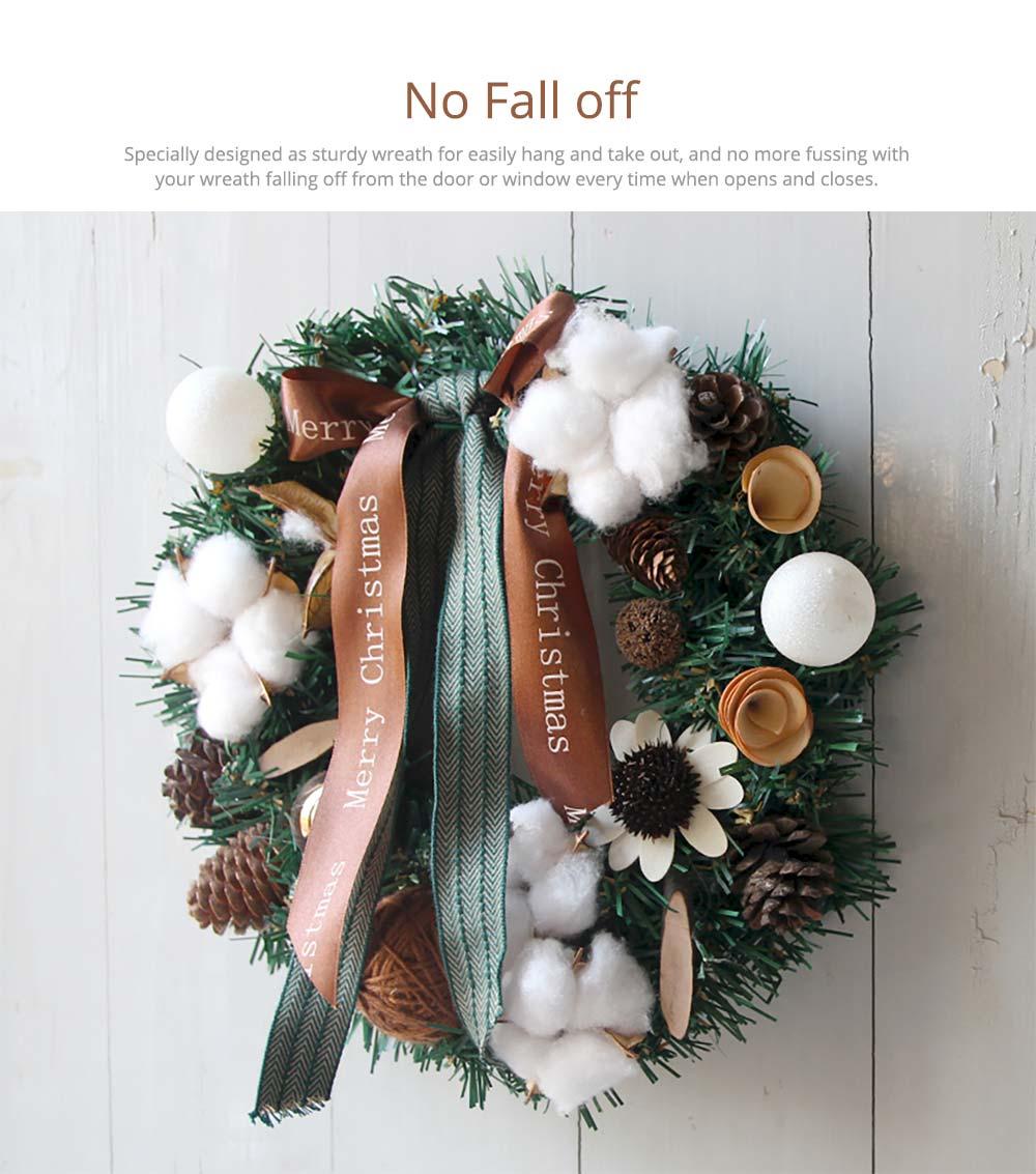 Hand-made Christmas Wreath for Front Door Window School Office