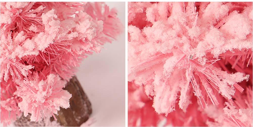 Pink Christmas Tree for Desktop Decoration