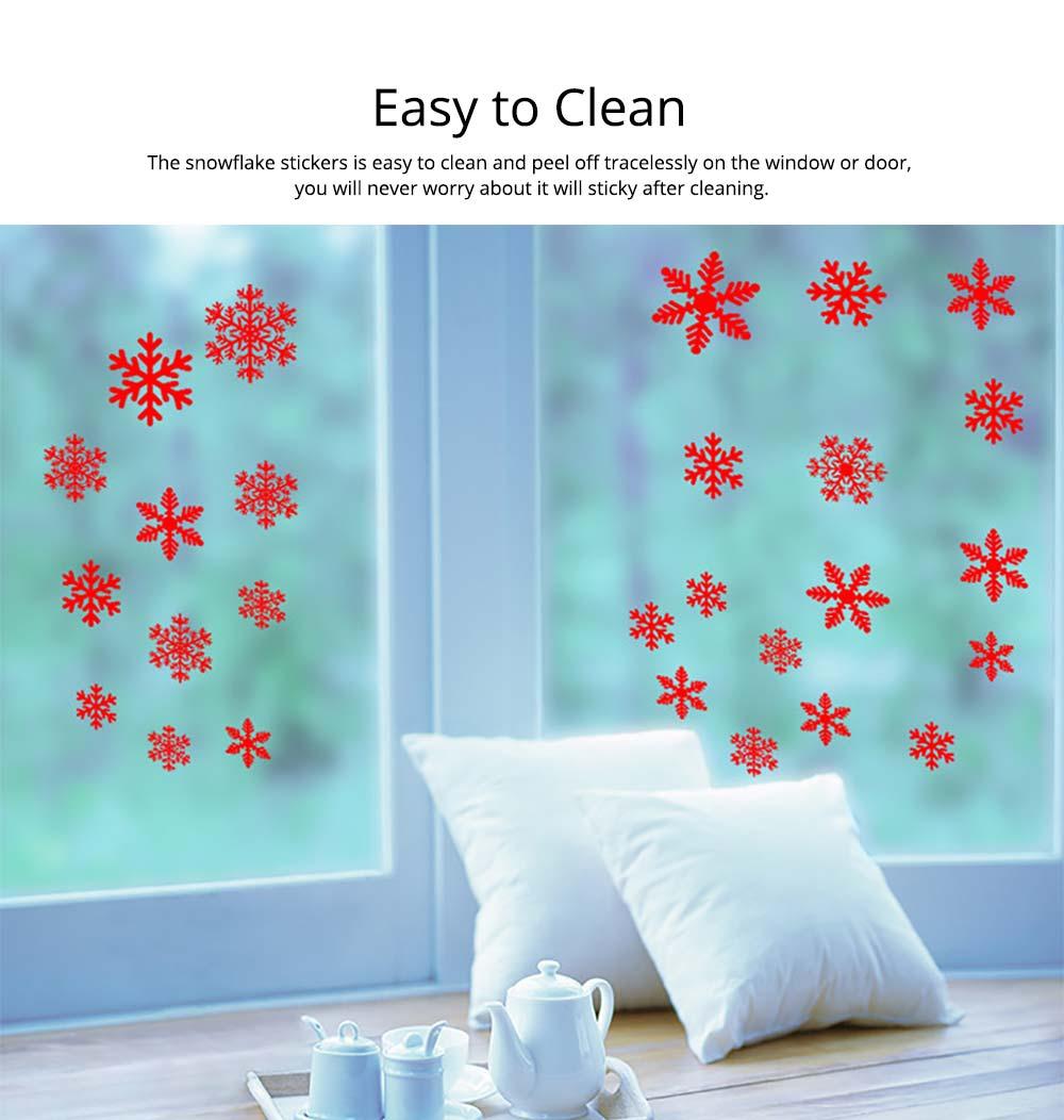 Traceless PVC Christmas Ornament Snowflake Stickers